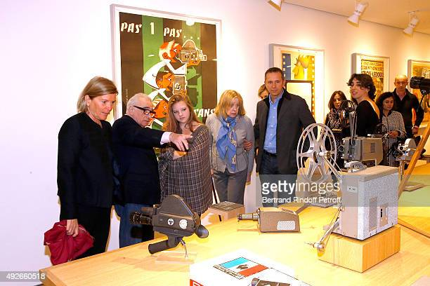 CEO of the 'Jerome Seydoux Pathe Foundation' Sophie Seydoux Martin Scorsese his wife Helen Morris and their daughter Francesca attend Director Martin...
