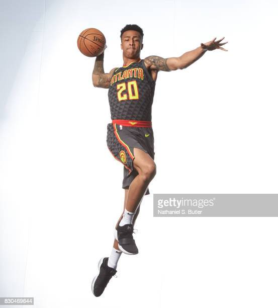 of the John Collins of the Atlanta Hawks poses for a photo during the 2017 NBA Rookie Shoot on August 11 2017 at the Madison Square Garden Training...