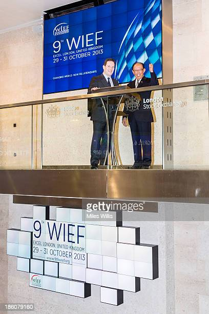 CEO of the London Stock Exchange Alexander Justham and Chairman of the World Islamic Economic Forum Foundation Tun Musa Hitam officially open market...