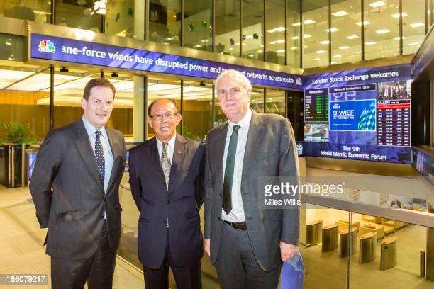 CEO of the London Stock Exchange Alexander Justham Chairman of the World Islamic Economic Forum Foundation Tun Musa Hitam and Deputy Mayor of London...