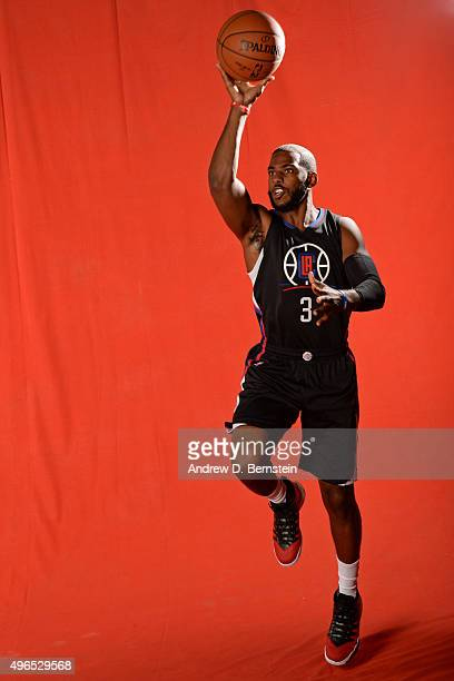 of the Los Angeles Clippers poses for a portrait during media day at the Los Angeles Clippers Training Center on September 24 2015 in Playa Vista...