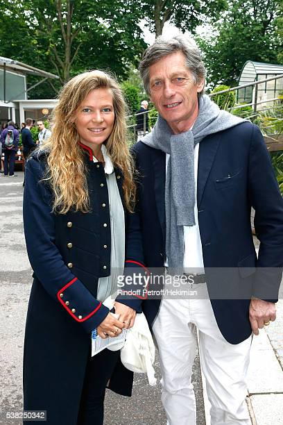CEO of the M6 television channel Nicolas de Tavernost and his daughter Sybille attend Day Fifteen Men single's Final of the 2016 French Tennis Open...