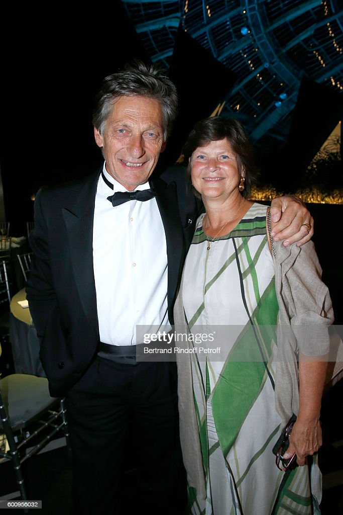 CEO of the M6 television channel Nicolas de Tavernost and his wife attend the 28th Biennale des Antiquaires : Pre-Opening at Grand Palais on September 8, 2016 in Paris, France.