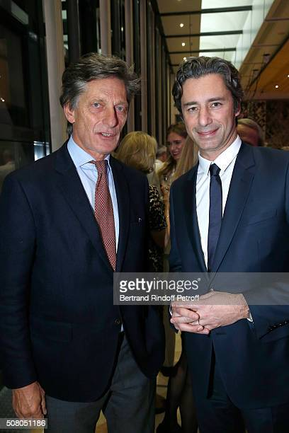 CEO of the M6 television channel Nicolas de Tavernost and Managing Director of Facebook France Laurent Solly attend President of l'Oreal JeanPaul...