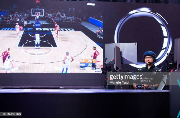 UCMANNY of the Magic Gaming stares on during the game against Cavs Legion Gaming Club during Week 12 of the NBA 2K League on August 11 2018 at the...