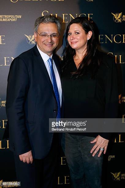 CEO of the 'Metropolitan Films Export' Victor Hadida and Producer of the movie Emma Tillinger Koskoff attend the 'Silence' Paris Premiere at Musee...