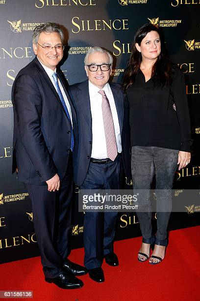 CEO of the 'Metropolitan Films Export' Victor Hadida director of the movie Martin Scorsese and Producer of the movie Emma Tillinger Koskoff attend...