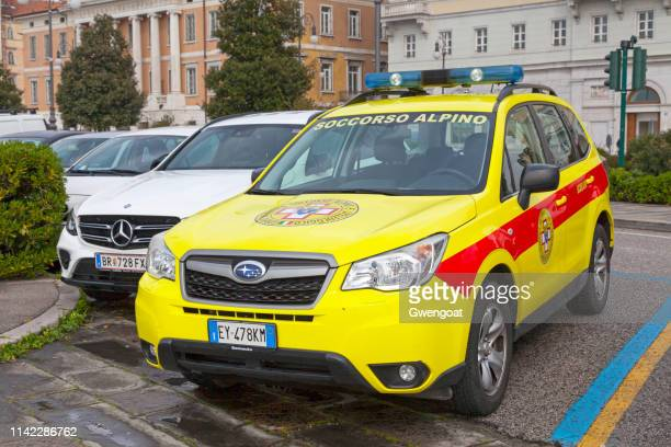 SUV of the Mountain Rescue (Soccorso Alpino)