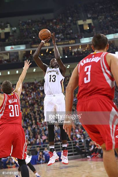 NAME of the New Orleans Pelicans NAME of the Houston Rockets during the game as part of the 201617 NBA Global Games China on October 12 2016 at the...