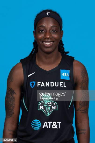 Jazmine Jones of the New York Liberty poses for a head shot during Media Day on July 13 2020 at IMG Academy in Bradenton Florida NOTE TO USER User...