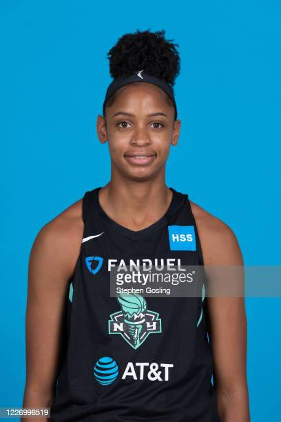 Leonna Odom of the New York Liberty poses for a head shot during Media Day on July 13 2020 at IMG Academy in Bradenton Florida NOTE TO USER User...