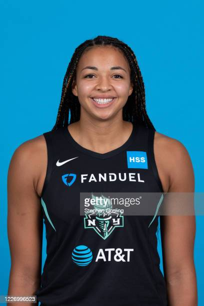 Kiah Stokes of the New York Liberty poses for a head shot during Media Day on July 13 2020 at IMG Academy in Bradenton Florida NOTE TO USER User...