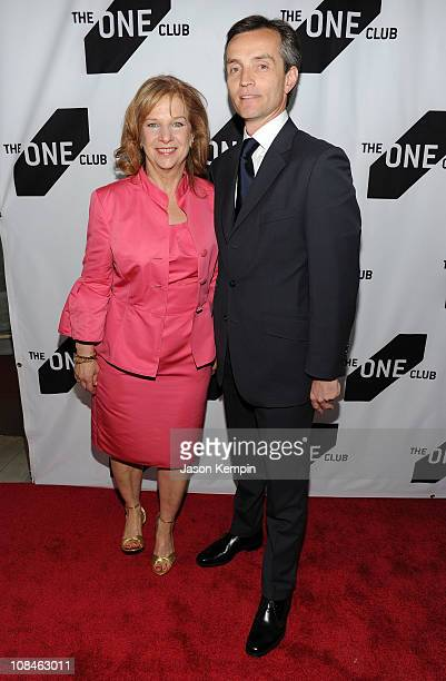 CEO of The One Club Mary Warlick and Jean Luc attends the 35th Annual One Show hosted by The One Club at Alice Tully Hall Lincoln Center on May 13...
