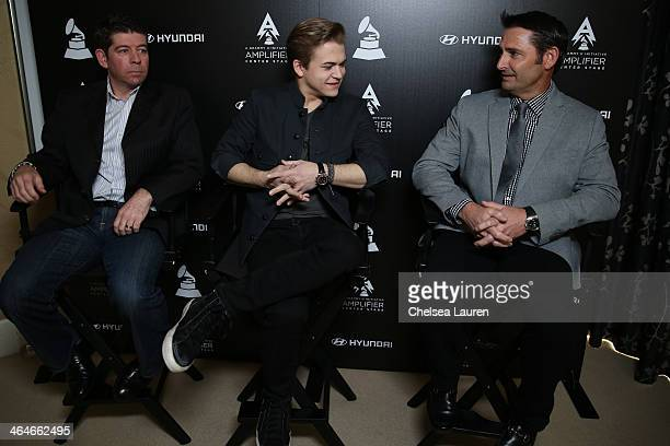 CMO of The Recording Academy Evan Greene recording artist Hunter Hayes and Sr Group Manager New Media Hyundai Jon Budd attend Hyundai The GRAMMY's...