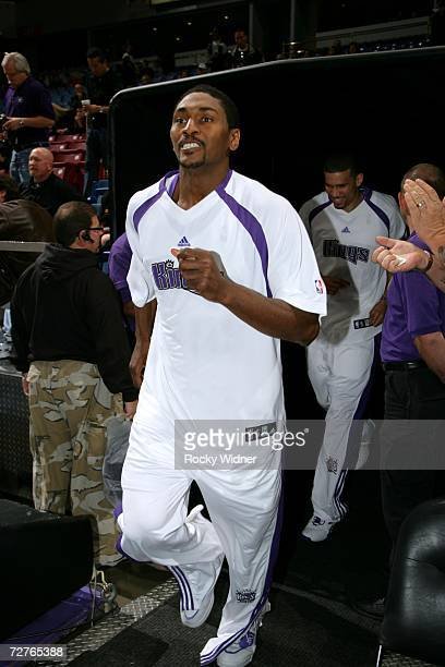 Of the Sacramento Kings jogs into the Arco Arena before the game against the Los Angeles Clippers on November 28, 2006 in Sacramento, California. The...