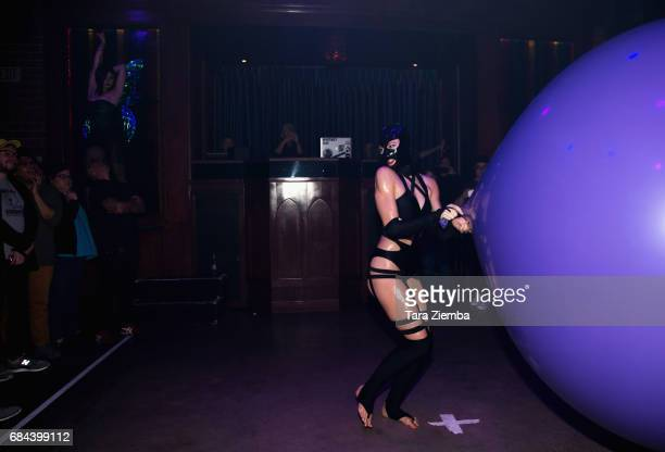 LASH of the show ABSINTHE performs at GIRLBAR/GB2/ALTARGIRL's 6 Year Anniversary celebration at The Abbey on May 17 2017 in West Hollywood California