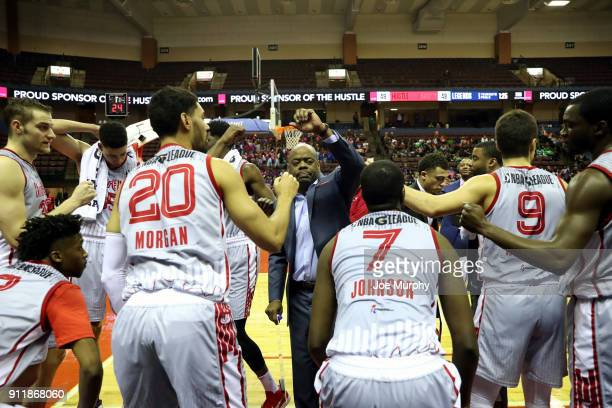 of the Texas Legends against the Memphis Hustle during an NBA GLeague game on January 29 2018 at Landers Center in Southaven Mississippi NOTE TO USER...