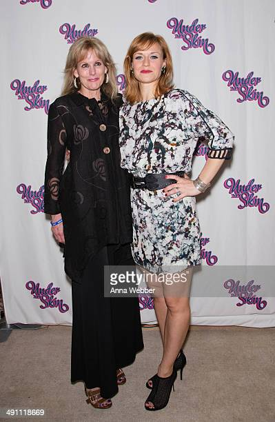 CEO of the TJ Martell Foundation Laura Heatherly and Actress Megan Sikora arrive to the Under My Skin Opening Night at Shubert Theatre on May 15 2014...