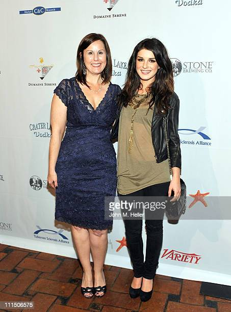 CEO of the Tuberous Sclerosis Alliance Kari Rosbeck and actress Shenae Grimes attend the 10th Annual 'Comedy For A Cure' at the Hollywood Roosevelt...