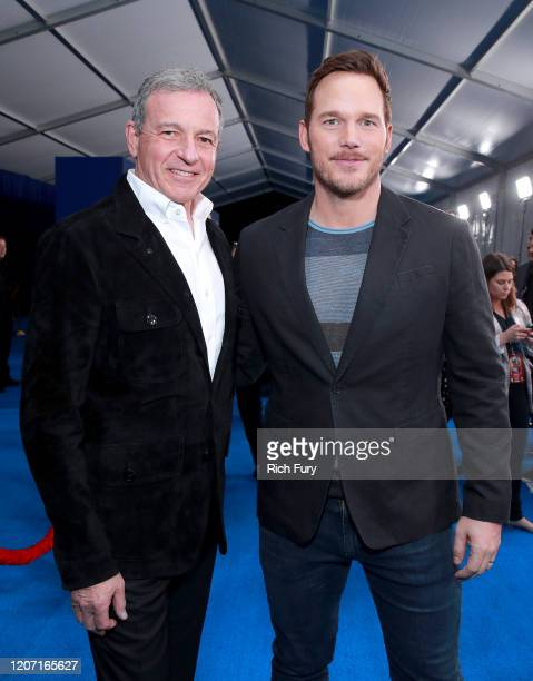 CEO of The Walt Disney Company Bob Iger and Chris Pratt attend the Premiere of Disney and Pixar's Onward on February 18 2020 in Hollywood California