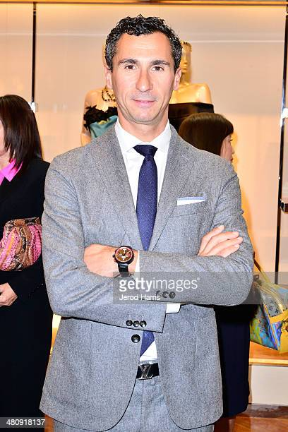 SVP of the Western Region for Louis Vuitton Tomasso De Vecchi attends Louis Vuitton with Vogue and Michelle Janavs discover the Women's ReadyToWear...