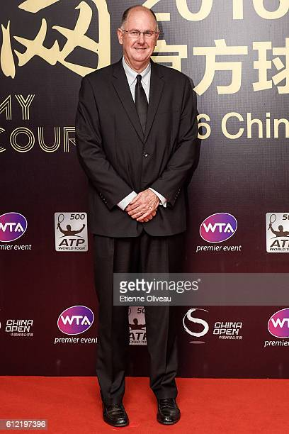 CEO of the WTA Steve Simon arrives at the 2016 China Open Player Party at The Birds Nest on October 3 2016 in Beijing China