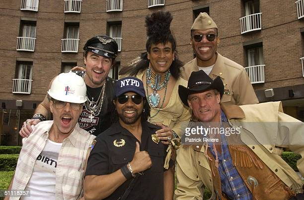 FELIPE ROSE ALEXANDER BRILEY JEFF OLSON ERIC ANZALONE of theTHE VILLAGE PEOPLE during a photocall for their 25th Anniversary Australian tour at the...