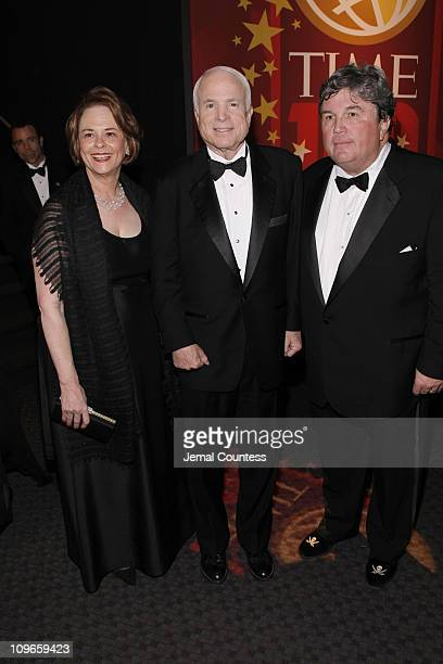Of Time Inc Anne Moore, Senator John McCain and Worldwide Publisher of TIME Edward McCarrick attend Time's 100 Most Influential People in the World...