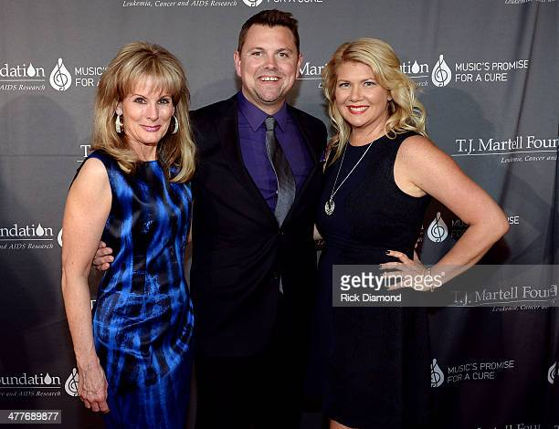 CEO of TJ Martell Foundation Laura Heatherly host of GAC's 'Headline Country' Storme Warren and TJ Martell Foundation National Board President Marcie...