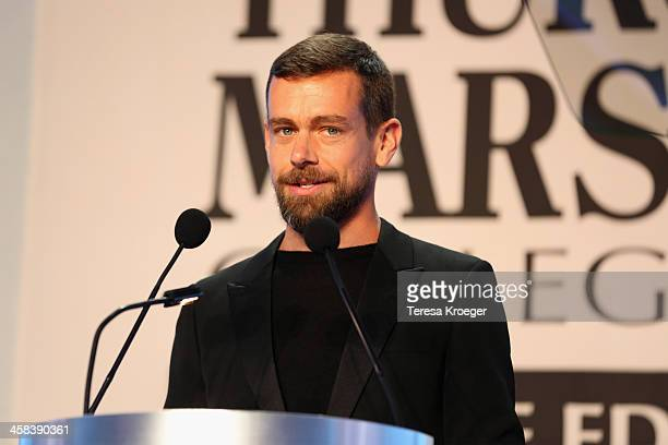 CEO of Twitter and Square Jack Dorsey accepts the award for CEO of the Year onstage during the Thurgood Marshall College Fund 28th Annual Awards Gala...