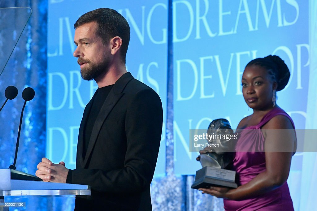 CEO of Twitter and Square Jack Dorsey accepts the award for CEO of the Year onstage during the Thurgood Marshall College Fund 28th Annual Awards Gala at Washington Hilton on November 21, 2016 in Washington, DC.