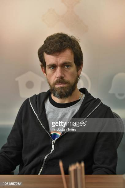 CEO of Twitter Jack Patrick Dorsey speaks during an exclusive interview with Hindustan Times at Twitter India office at the Crescent on November 14...
