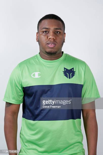 TURNUPDEFENSE of TWolves Gaming poses for a head shot during the NBA 2K League media day on April 3 2019 at the NBA 2K Studio in Long Island City New...