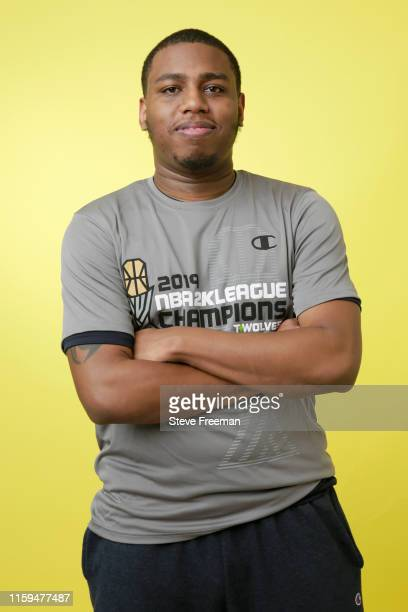 TURNUPDEFENSE of TWolves Gaming poses for a portrait after Game Five of the NBA 2K League Finals on August 3 2019 at the NBA 2K Studio in Long Island...