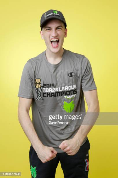 FEAST of TWolves Gaming poses for a portrait after Game Five of the NBA 2K League Finals on August 3 2019 at the NBA 2K Studio in Long Island City...