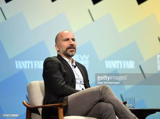 O of Uber Dara Khosrowshahi speaks onstage at Day 1 of the Vanity Fair New Establishment Summit 2018 at The Wallis Annenberg Center for the...