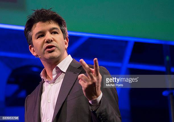 CEO of Uber Travis Kalanick attends the kickoff of Startup Fest Europe on May 24 2016 in Amsterdam The Netherlands The event facilitates matchmaking...