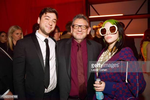 CEO of UMG Sir Lucian Grainge and Billie Eilish attend the Universal Music Group's 2020 Grammy after party presented by Lenovo at Rolling Greens...