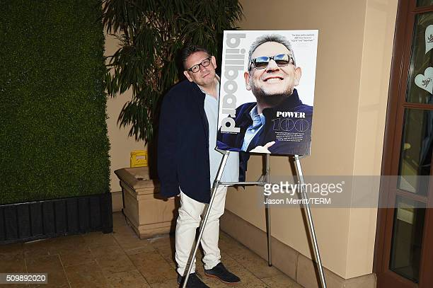 CEO of Universal Music Group Lucian Grainge attends 2016 Billboard Power 100 Celebration at Bouchon Beverly Hills on February 12 2016 in Beverly...