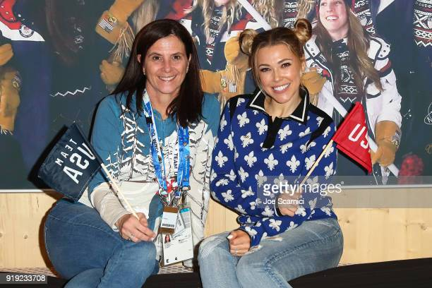 CMO of USOC Lisa Baird and Musician Rachel Platten pose for a photo at the USA House at the PyeongChang 2018 Winter Olympic Games on February 17 2018...