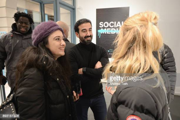 CEO of Vero Ayman Hariri and guests attend Robert Whitman Presents Prince 'Pre Fame' Private Viewing Event Exclusively On Vero on December 14 2017 in...