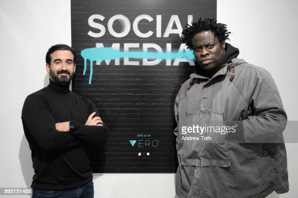 CEO of Vero Ayman Hariri and Jeymes Samuel attend Robert Whitman Presents Prince 'Pre Fame' Private Viewing Event Exclusively On Vero on December 14...