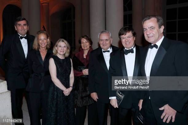 Of Veuve Clicquot, Jean-Marc Gallot with his wife, President of Castle of Versailles Catherine Pegard, Anne-Marie Raffarin with her husband...