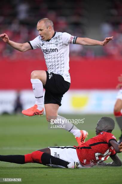Of Vissel Kobe in action during the J.League YBC Levain Cup Playoff Stage second leg match between Urawa Red Diamonds and Vissel Kobe at the Urawa...