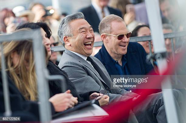 CEO of Warner Bros Kevin Tsujihara attends 'Brett Ratner honored with star on the on the Hollywood Walk of Fame' on January 19 2017 in Hollywood...