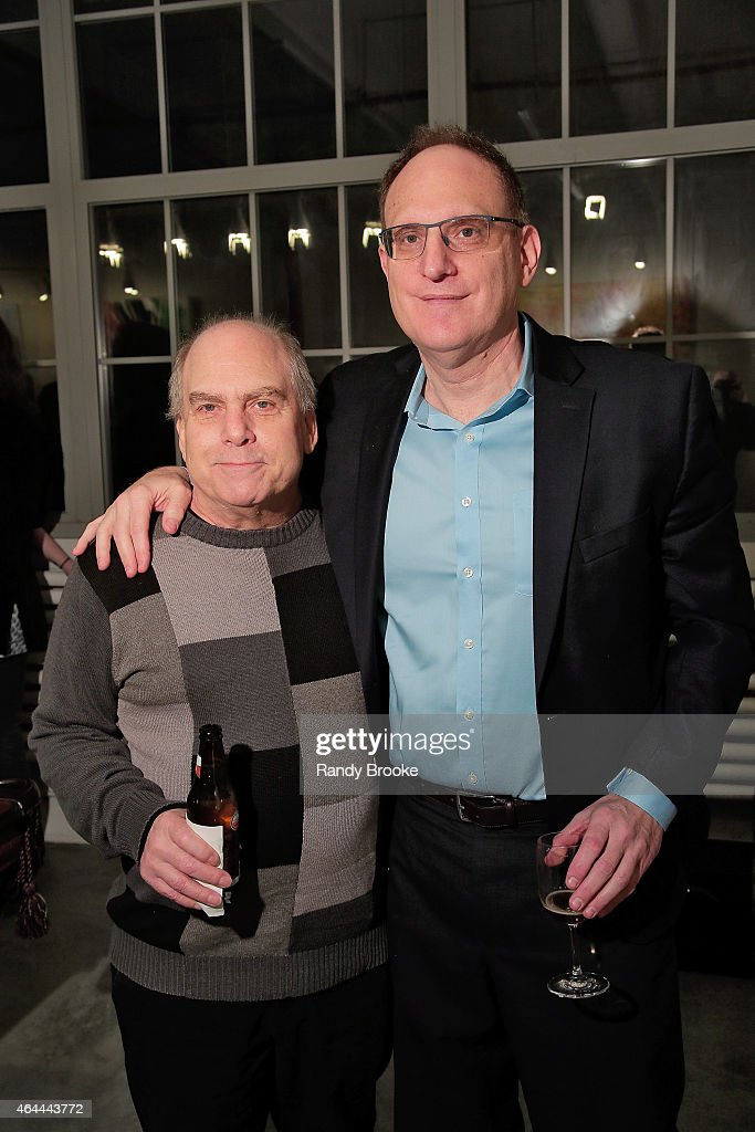 CEO of Watch Free Gary Delfiner and CEO of FilmRise Danny Fisher attend FilmRise Celebrates New Office In Industry City, Brooklyn at FilmRise on February 25, 2015 in Brooklyn, New York.