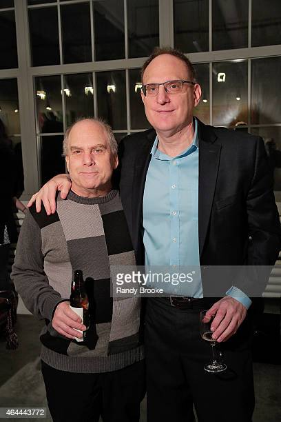 CEO of Watch Free Gary Delfiner and CEO of FilmRise Danny Fisher attend FilmRise Celebrates New Office In Industry City Brooklyn at FilmRise on...
