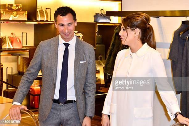 SVP of Western region for Louis Vuitton Tomasso De Vecchi and Michelle Janavs attend Louis Vuitton with Vogue and Michelle Janavs discover the...