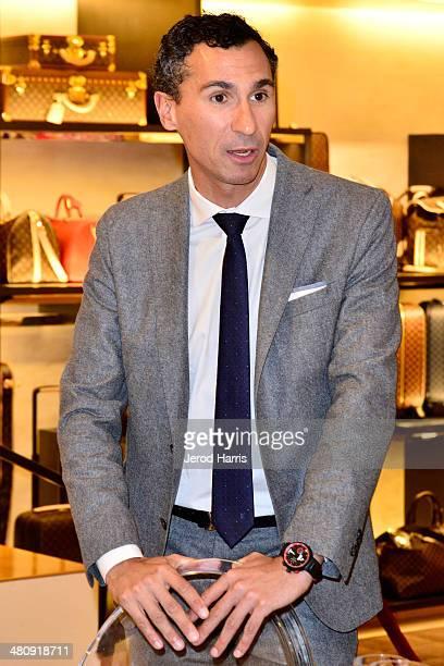SVP of Western Region for Louis Vuitton Tomasso De Vecchi attends Louis Vuitton with Vogue and Michelle Janavs discover the Women's ReadyToWear...