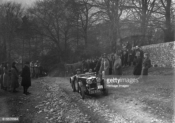 MG J2 of WH Haden climbing Nailsworth Ladder Sunbac Colmore Trial Gloucestershire 1934 MG J2 847 cc Vehicle Reg No DG5166 Event Entry No 113 Driver...